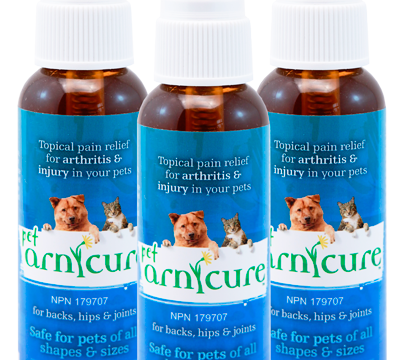 PET ARNICURE – Arnica for Muscular Soreness in Dogs GIVEAWAY